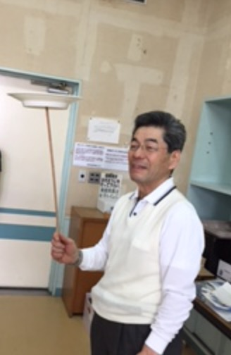 並木先生 皿回し