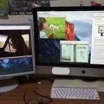 研究所の重要ツール iMacをデュアル・ディスプレイ化する実験開始。