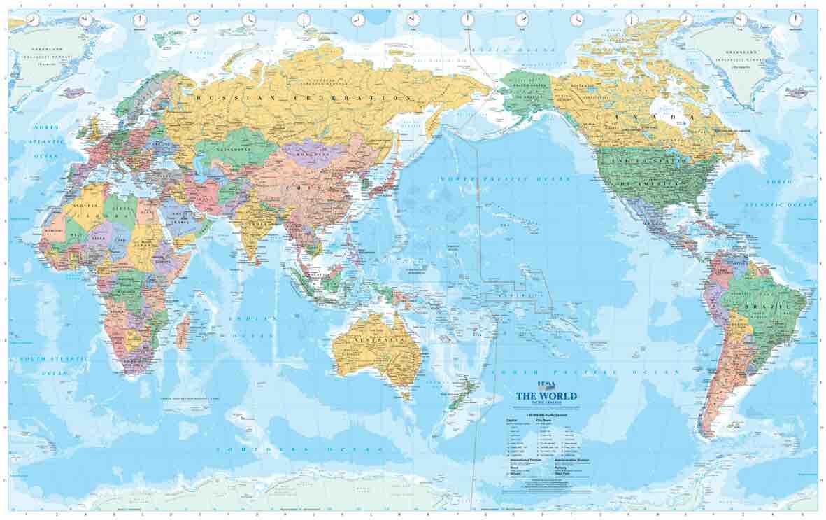 日本中心世界地図