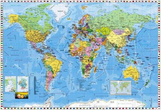 ヨーロッパ中心地図
