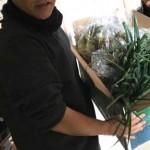 応援団の方から新鮮野菜が届く ますますたのしく元気に