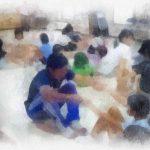 地域での〈たのしい教育 〉活動の内容 子ども達と保護者の皆さんの笑顔