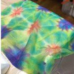 楽しい図工・たのしい折り染め・折染めワークショップ〈プリンタインク折り染めをたのしもう〉